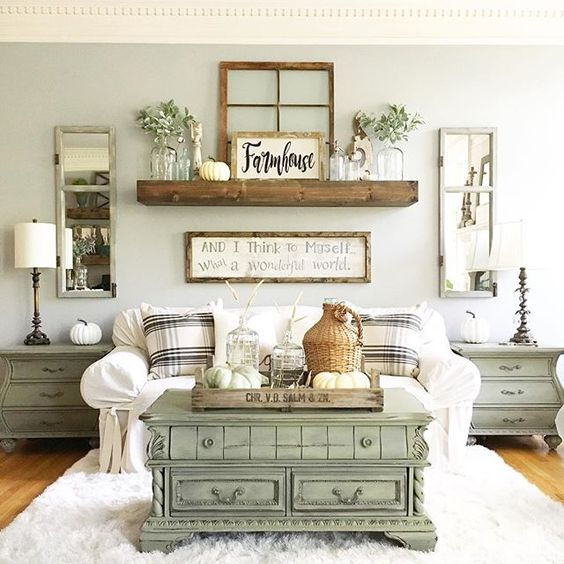Farmhouse Living Room Colors: 15 Gorgeous Farmhouse Decor Ideas For Your Living Room