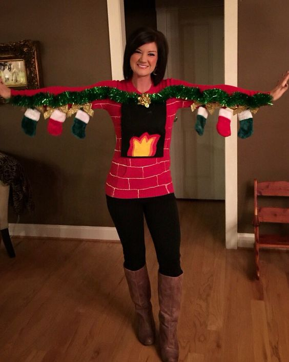 Diy Christmas Tree Sweater: 15 Hilarious Ugly Christmas Sweater Ideas