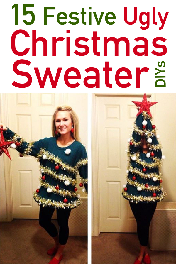 db627c4a4f0be 15 Hilarious Ugly Christmas Sweater DIYs | The Unlikely Hostess