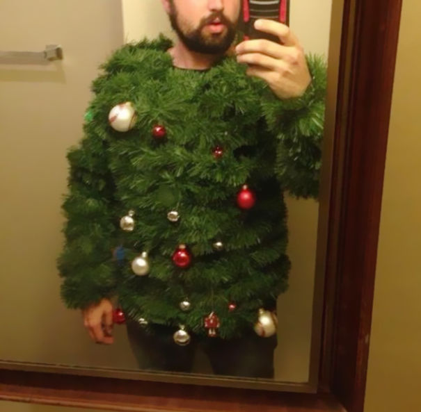 Christmas Tree Ugly Sweater Diy.15 Hilarious Ugly Christmas Sweater Diys The Unlikely Hostess