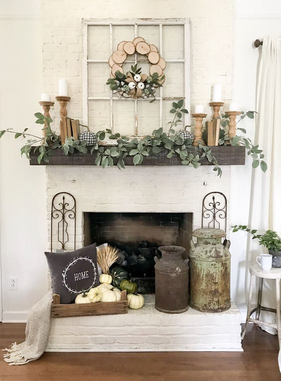 11 Mantel Decor Ideas With Farmhouse Style The Unlikely Hostess