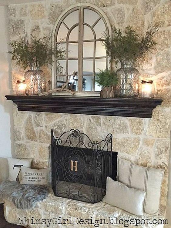 Eucalyptus Fireplace Mantle