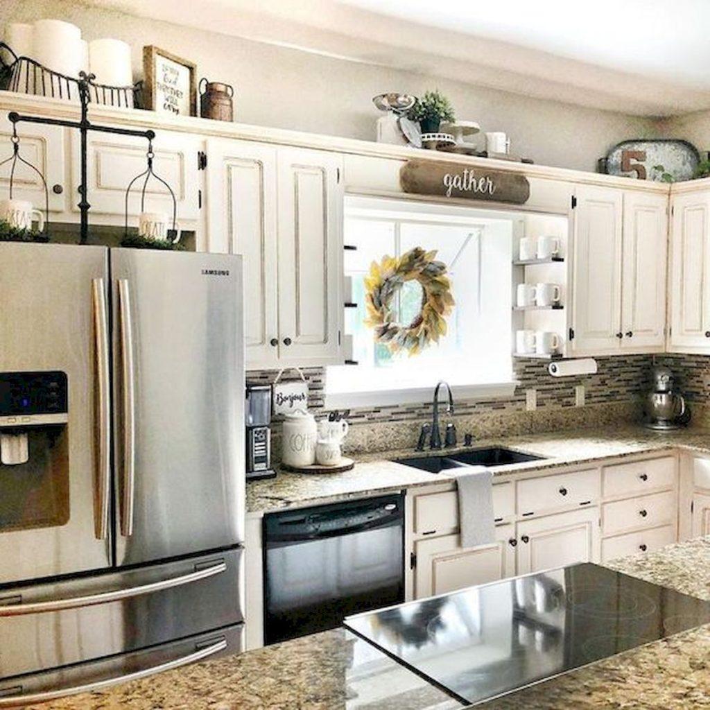 15 Kitchen Decor Ideas With Farmhouse Style | The Unlikely ... on Kitchen Decoration Ideas  id=78877
